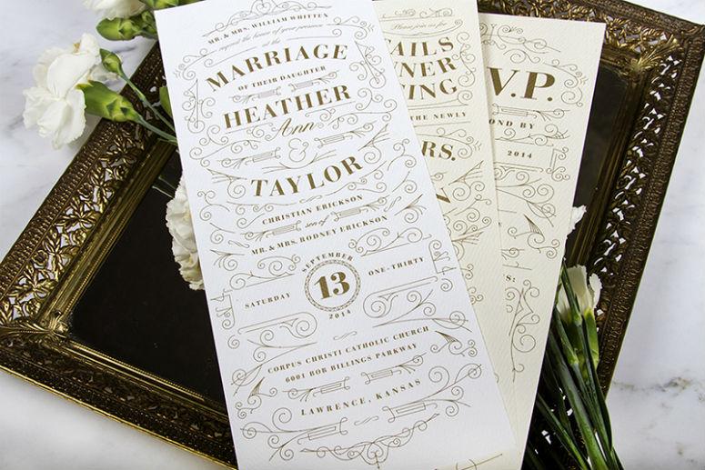 Heather and Taylor Erickson Wedding Invitation