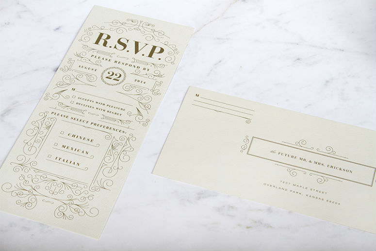 Heather and Taylor Erickson Wedding Invitation