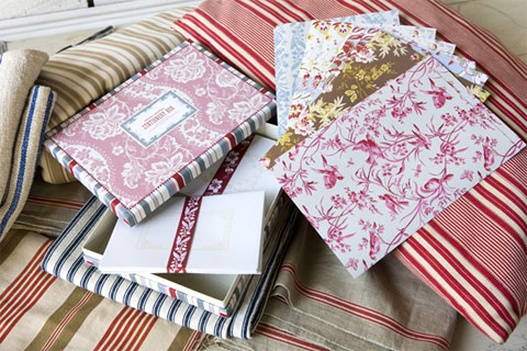 French General Home Sewn Book and Stationeries