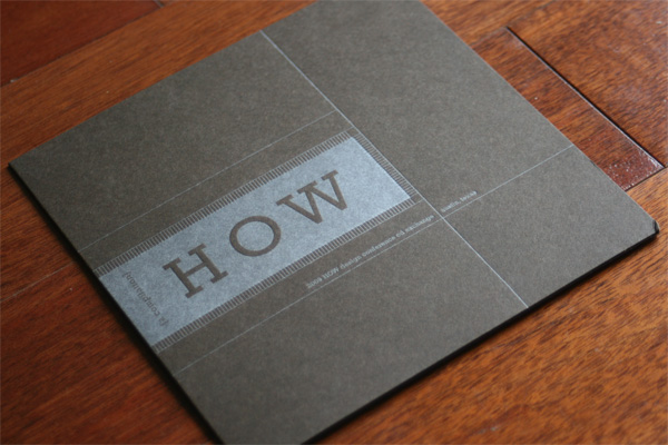 FPO: 2009 How Design Conference CD Exchange Sleeve
