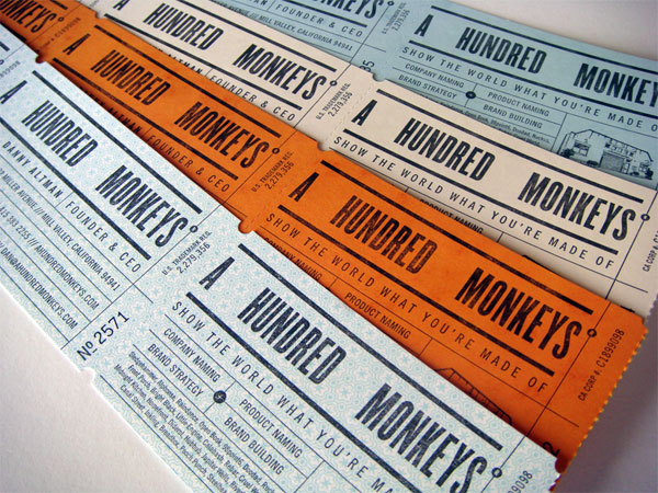 A Hundred Monkeys Business Cards