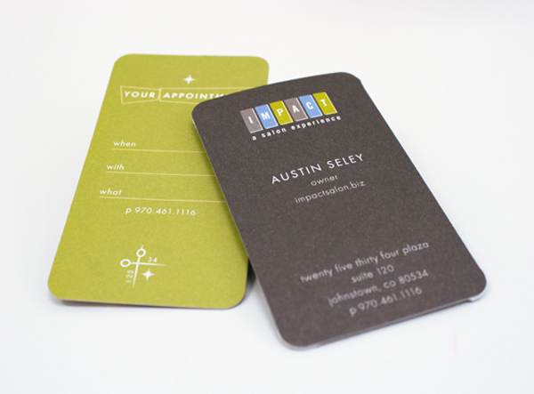 Impact Salon Business Cards