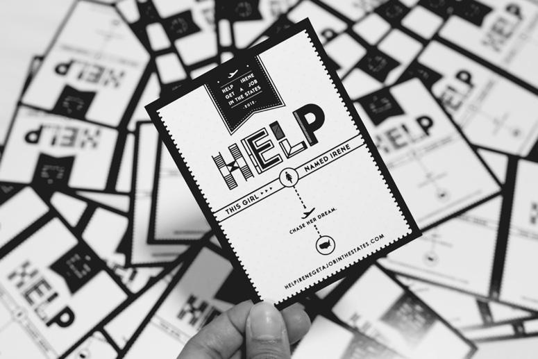 Help Irene Postcard