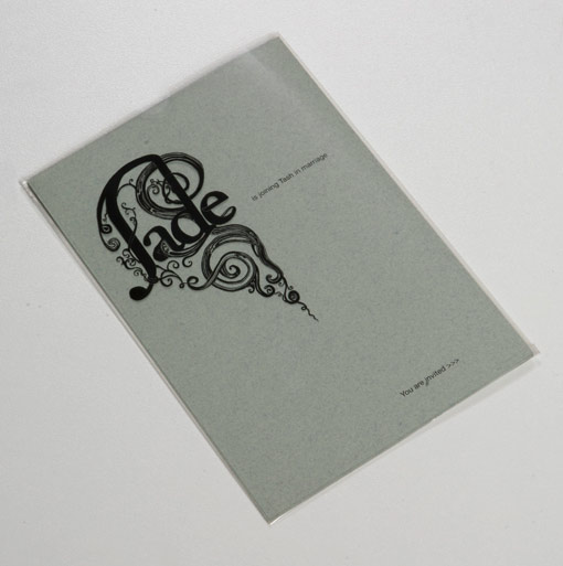 Jade and Tash Wedding Invite