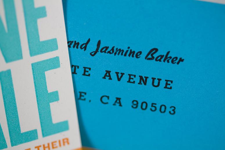 Jasmine & Yale Wedding Invitation