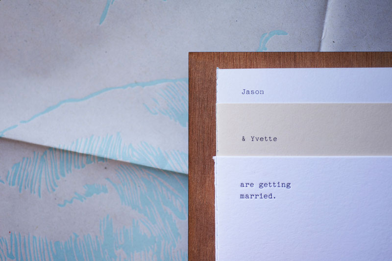 Jason & Yvette Wedding Invitation