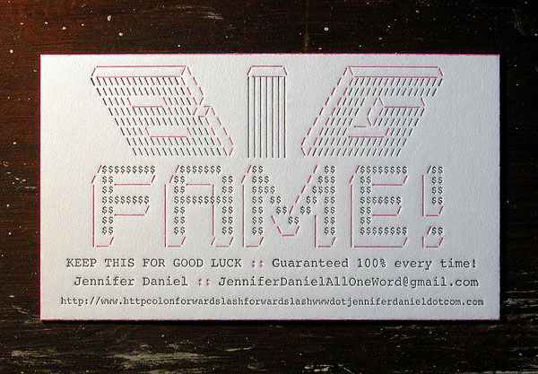 Jennifer Daniel Business Cards