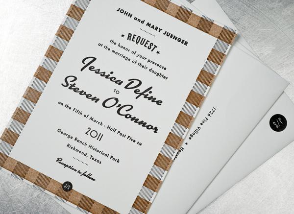 Jessica & Stephen Wedding Invitation