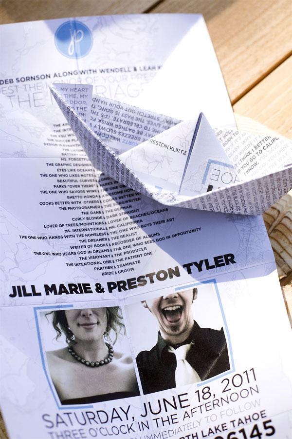 Jill and Preston Wedding Materials