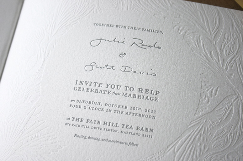 Julie + Scott Wedding Invitation