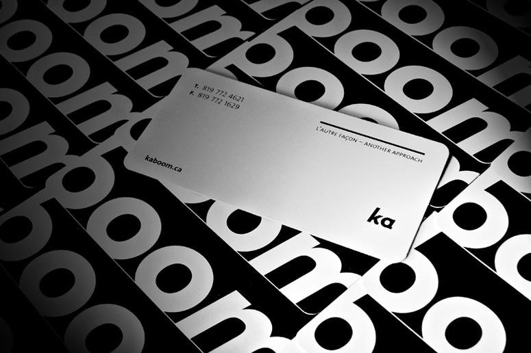Kaboom Communication Design Business Card