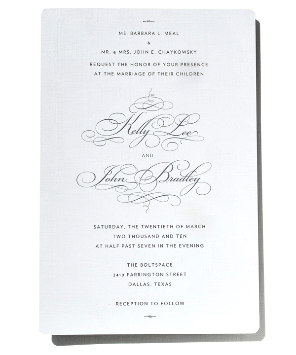 Kelly and John Wedding Invitation