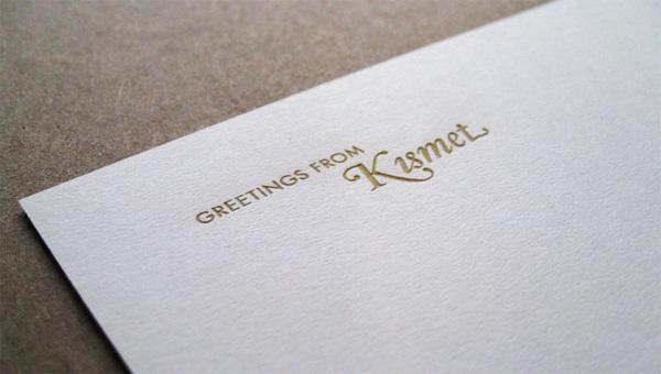 Kismet Holiday Card