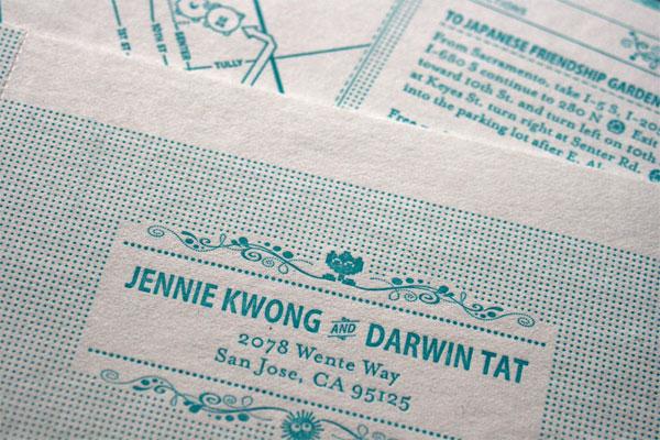 Jennie & Darwin Wedding Stationary and Favors