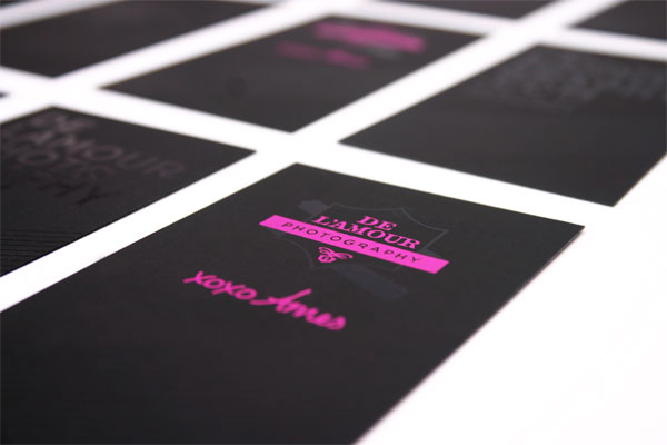 De'Lamour Business Card