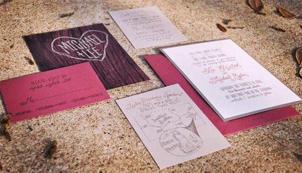 Lee and Michael Wedding Invitation