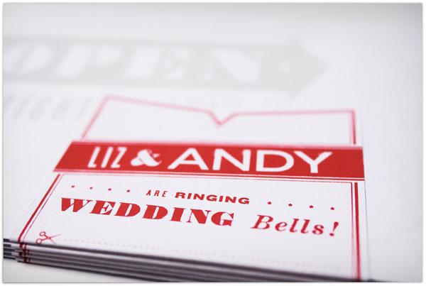Liz & Andy Wedding Invitation