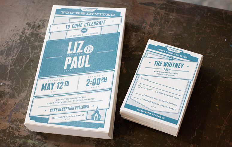 Liz and Paul Wedding Invitations