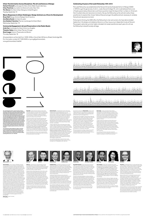 Loeb Fellows Poster