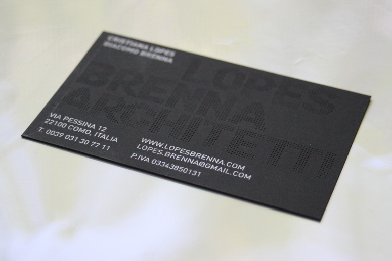 Lopes Brenna Architetti Business card