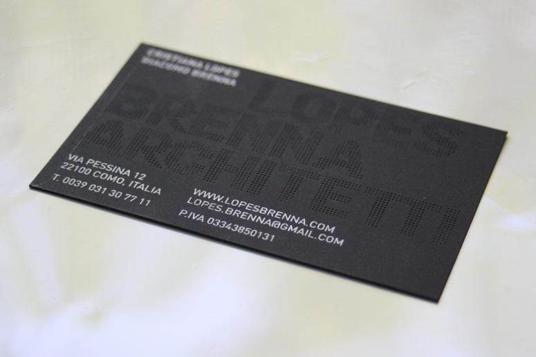 Fpo lopes brenna architetti business card custom dot type feb design lopes brenna architetti business card colourmoves
