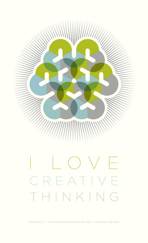 I Love Creative Thinking Poster