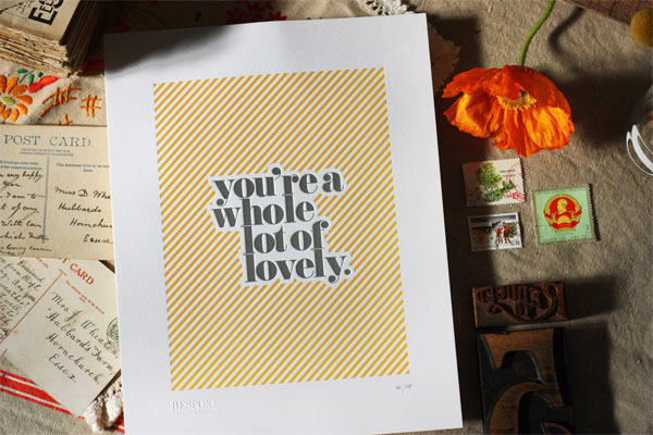 Limited Edition Letterpress Print