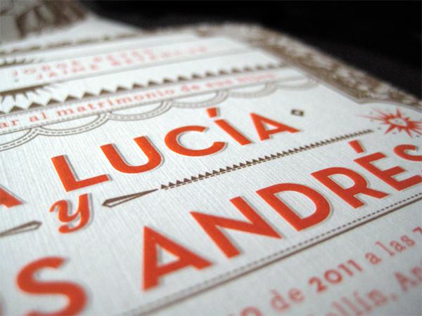 Alba y Carlos Wedding Invitation