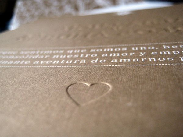 Alba y Carlos Wedding Invitation