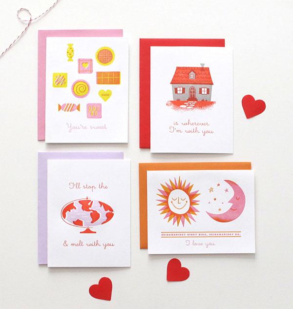Self-promotional Valentine Cards