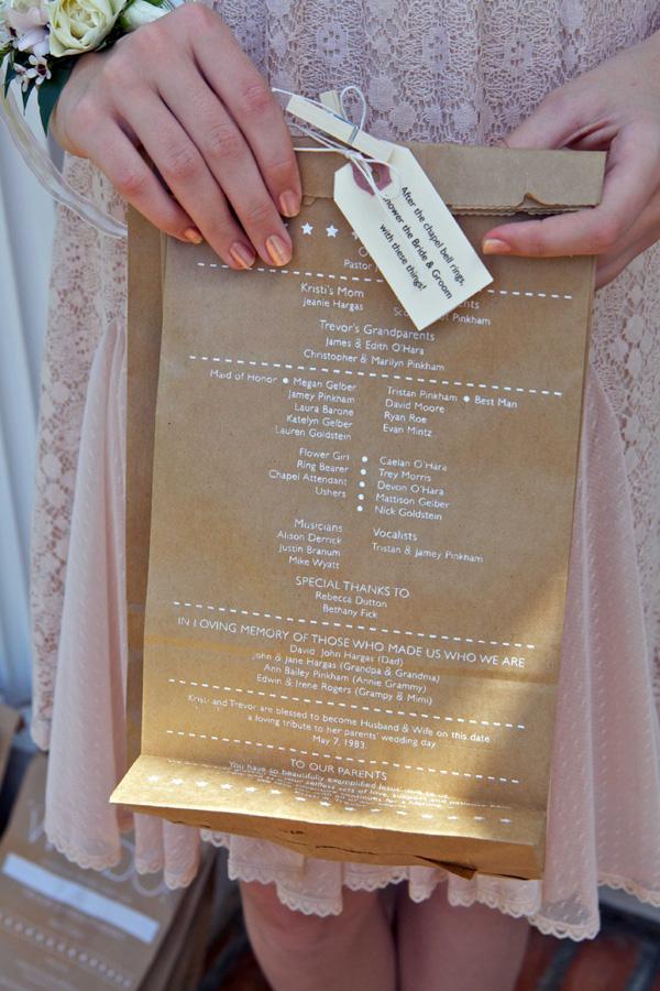 fpo lunch sack wedding program