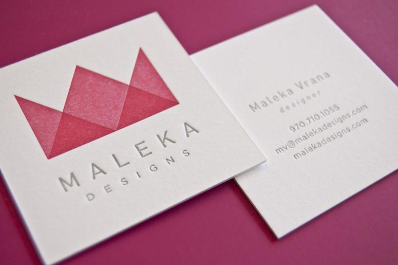 Maleka Designs Business Card