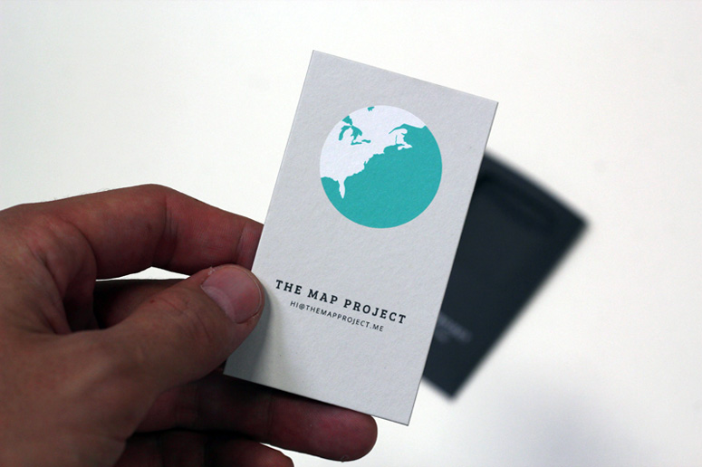 The Map Project Business Cards