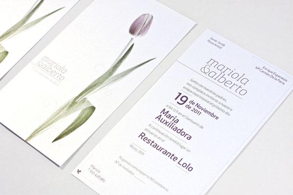 Mariola and Alberto Wedding Invitation