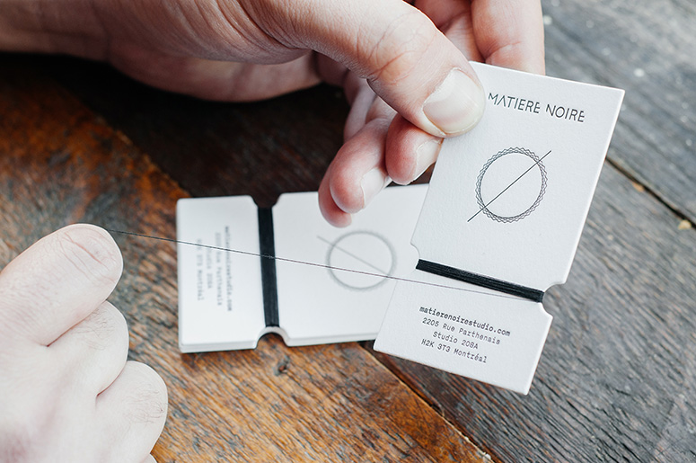 Matière Noire Handmade Business Card