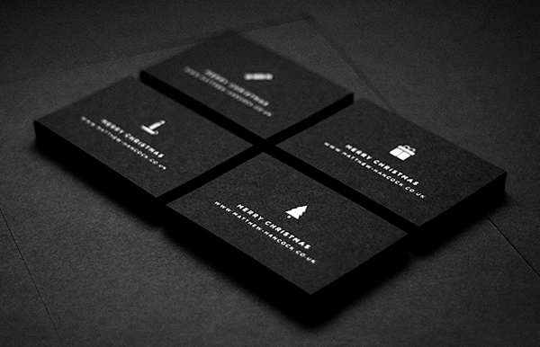 christmas business cards