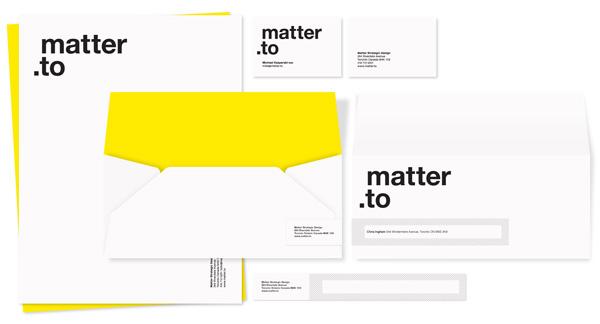 Matter Strategic Design Stationery