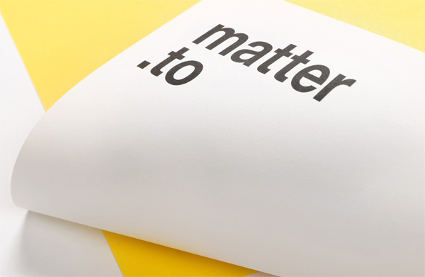 Matter Strategic Design Stationery