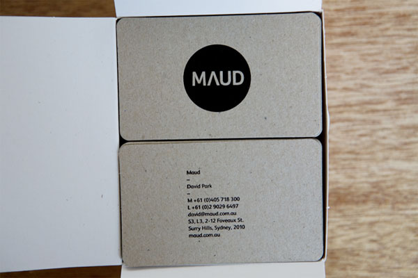 Maud Business Cards