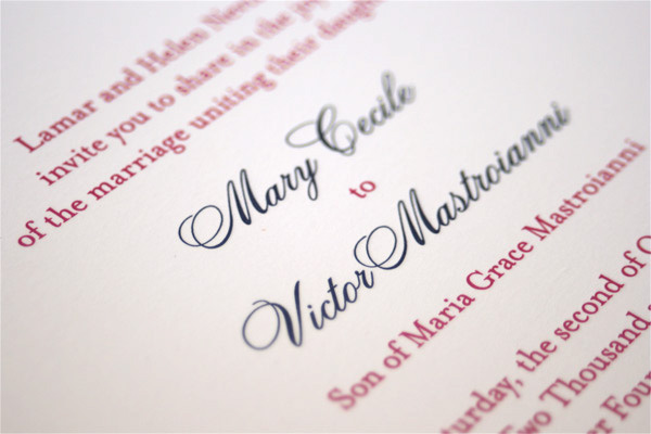 MC VM Wedding Invitation