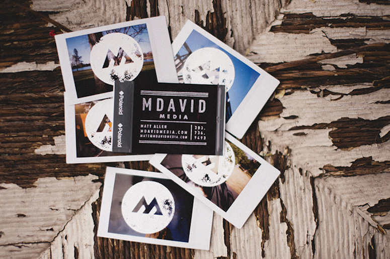M David Media Business Card