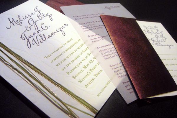 Melissa & Juan Wedding Invitation Package