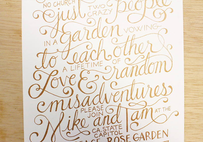 Mike & Tam Wedding Invitation