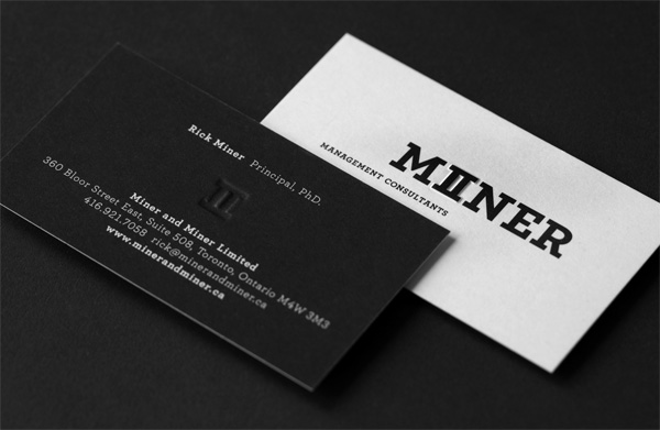 Miner & Miner Business Cards