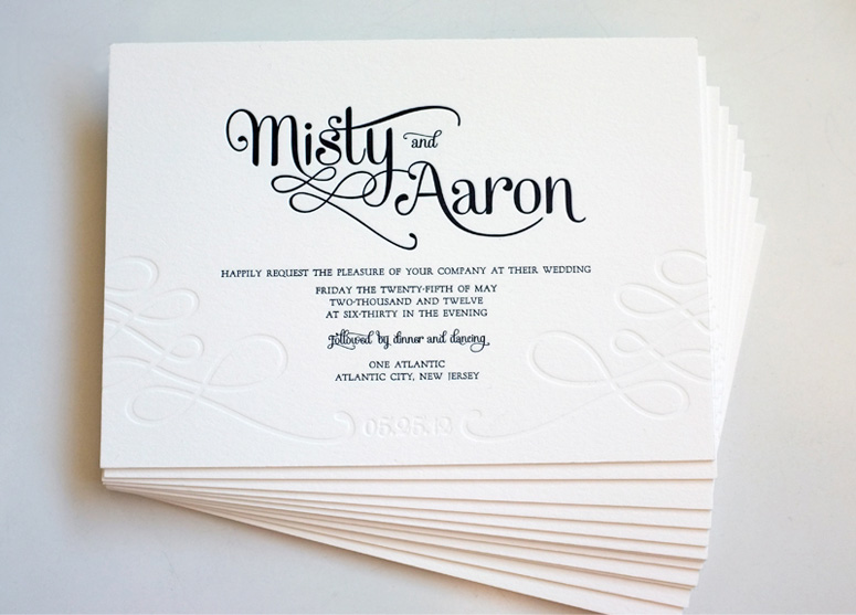 Misty & Aaron's Wedding Invitations