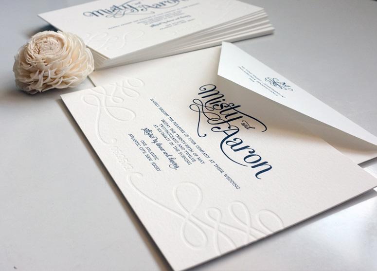 Misty & Aaron's Wedding Invitations