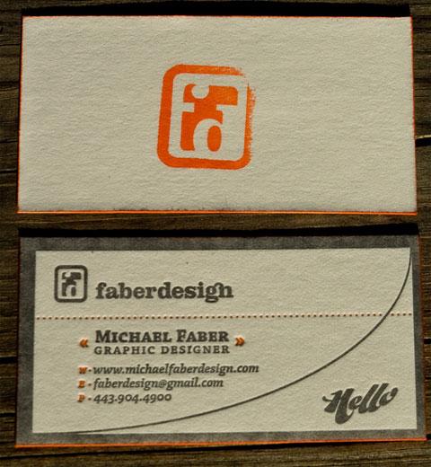 Michael Faber Business Card