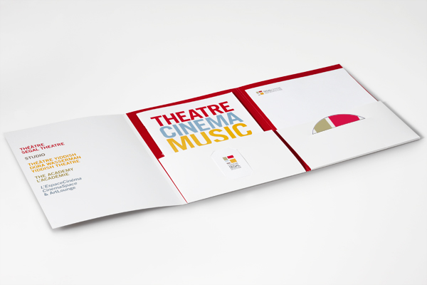 The Segal Centre for Performing Arts Pocket Folder and brochure