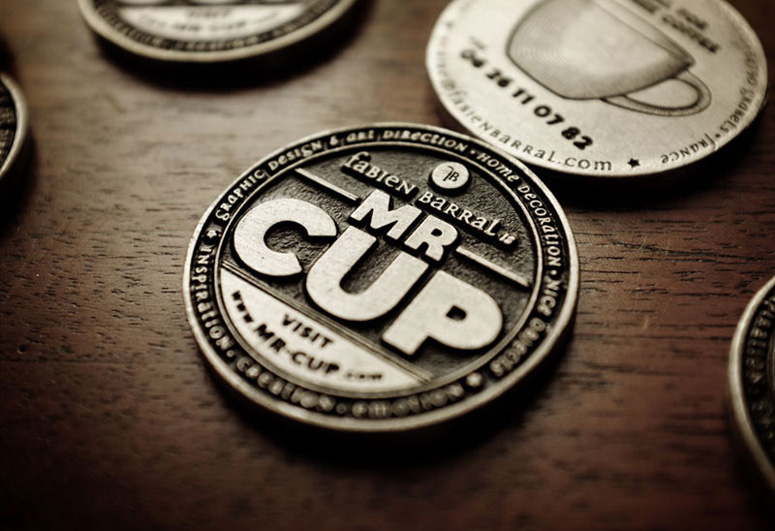 Mr Cup Metal Coin Business Cards