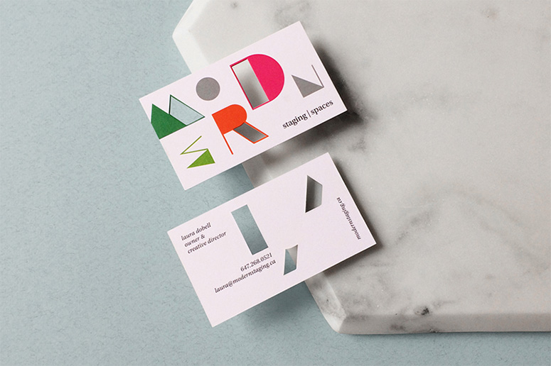Modern Staging Modern Spaces Business Cards
